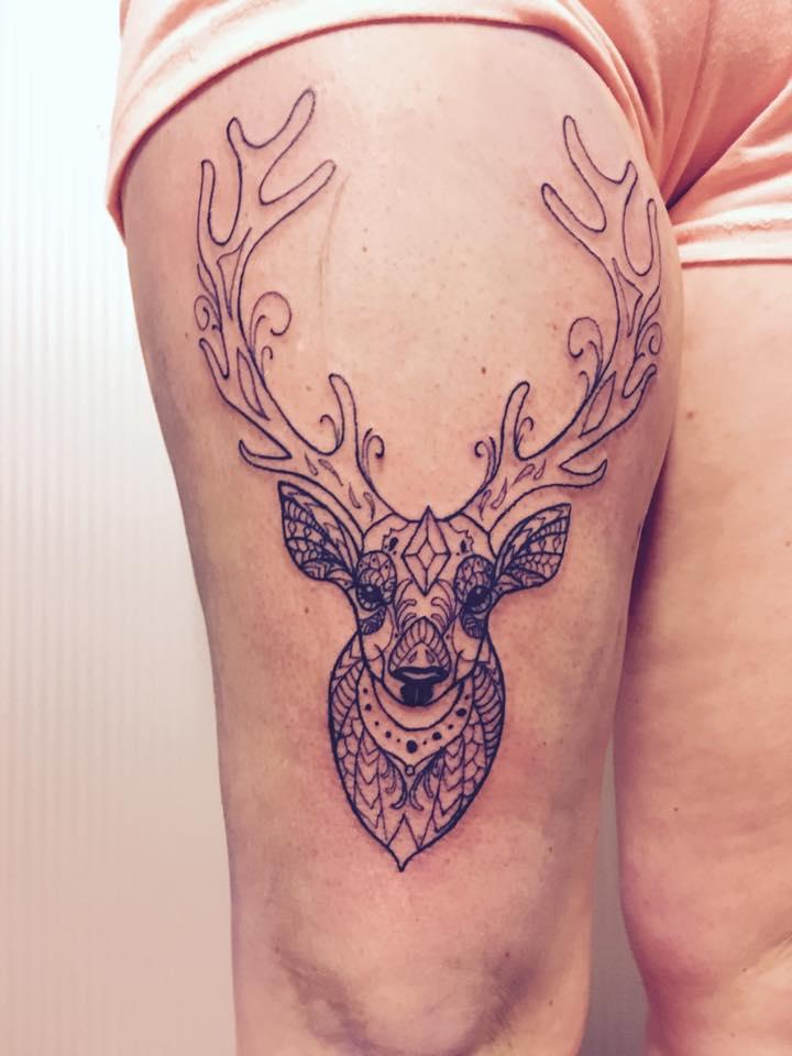 Mandala Tattoo Kleurplaten.Mandala Deer Aw Tattoo